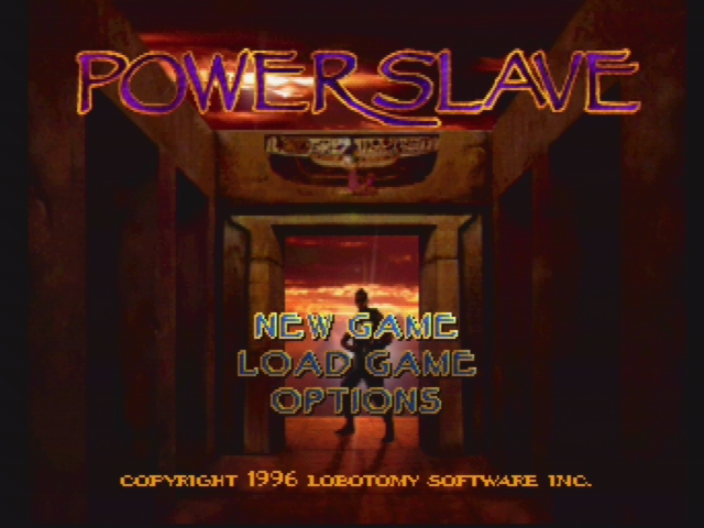 Powerslave PlayStation Main menu