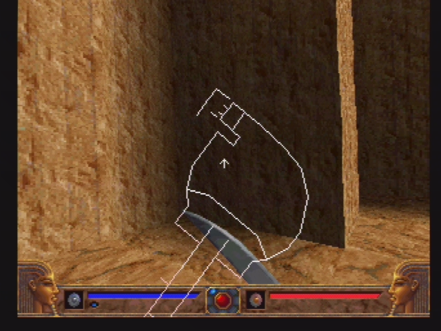 Powerslave PlayStation Overlay map