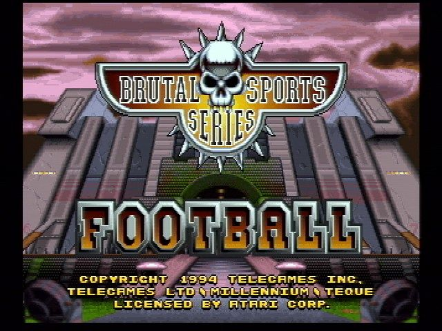 Brutal Sports Football Jaguar Title Screen