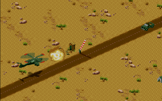 Desert Strike: Return to the Gulf Amiga Attacking enemy checkpoint