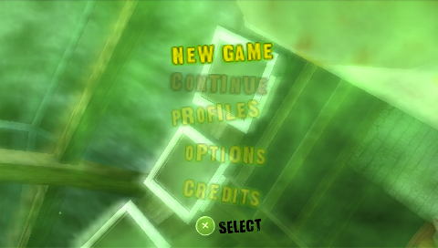 Dead Head Fred PSP Main menu
