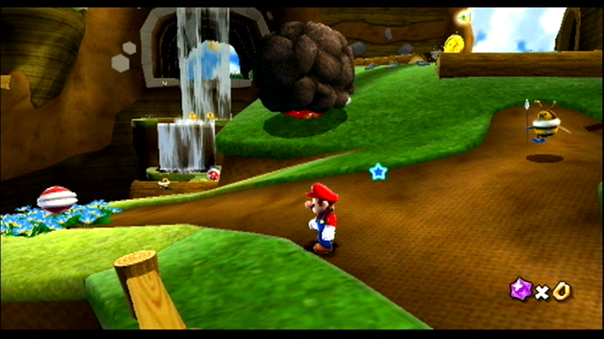 Super Mario Galaxy Wii One of the many worlds to visit