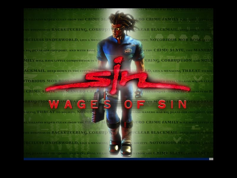 SiN: Wages of Sin Windows The new title screen.