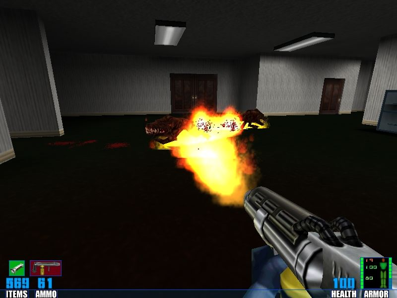 SiN: Wages of Sin Windows ... meet new weapon (flamethrower).