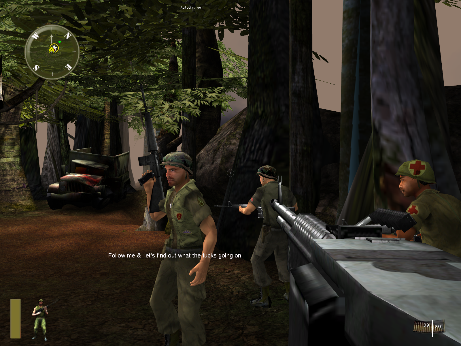 Marine Heavy Gunner: Vietnam Windows Sarge gives the orders and you must return to him to complete missions.