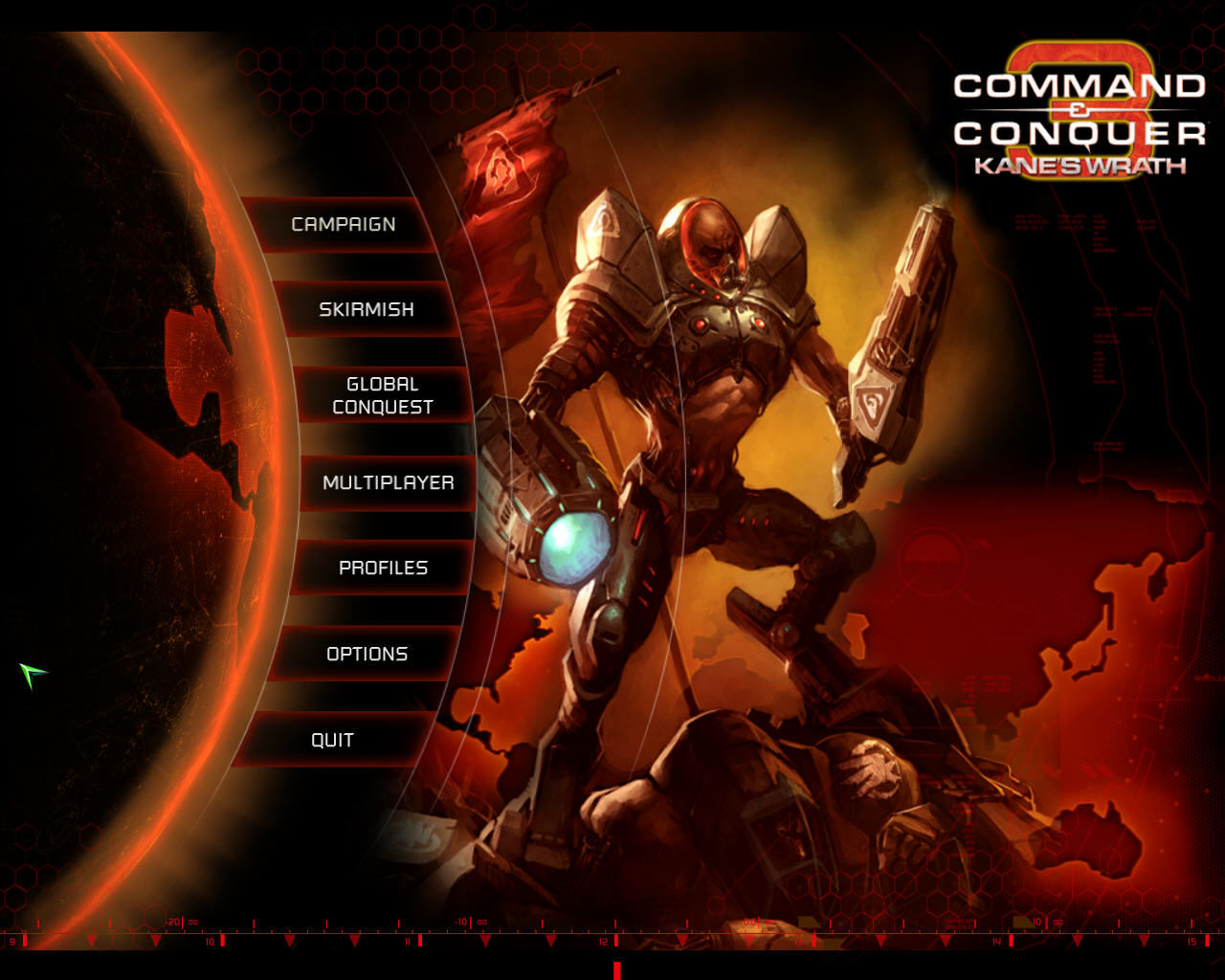 Command & Conquer 3: Kane's Wrath Windows Main Menu