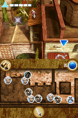 Assassin's Creed: Altaïr's Chronicles Nintendo DS Climbing the roof again.