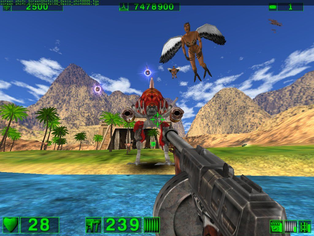Serious Sam: The First Encounter Windows It's seems such a shame to stain this peaceful oasis with bloodshed and massacre... oh, who am I kidding? Bloodshed and massacre are the reason I'm here!