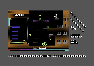 Blagger Commodore 64 Level 0: The Bank
