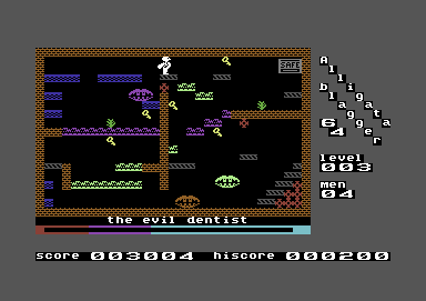 Blagger Commodore 64 Level 3: The evil dentist