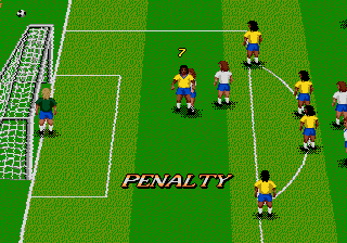 World Championship Soccer II Genesis Penalty