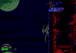 Gargoyles Genesis Climbing the wall.
