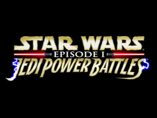 Star Wars: Episode I - Jedi Power Battles PlayStation Title screen