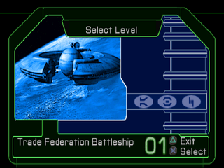 Star Wars: Episode I - Jedi Power Battles PlayStation Level selection