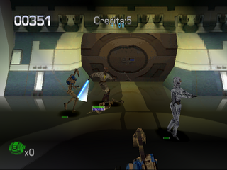 Star Wars: Episode I - Jedi Power Battles PlayStation Fighting robots