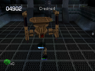 Star Wars: Episode I - Jedi Power Battles PlayStation Mid-level boss battle
