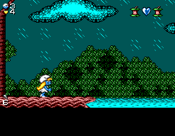 The Smurfs Travel the World SEGA Master System Starting location in Africa.