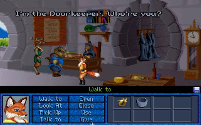 Inherit the Earth: Quest for the Orb DOS Rats Doorkeeper