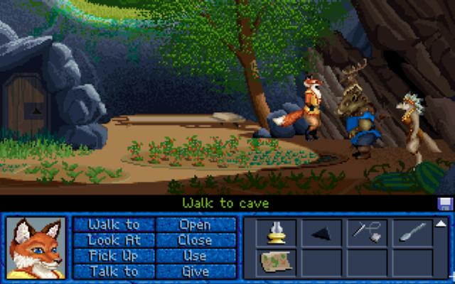 Inherit the Earth: Quest for the Orb DOS Inside waterfall