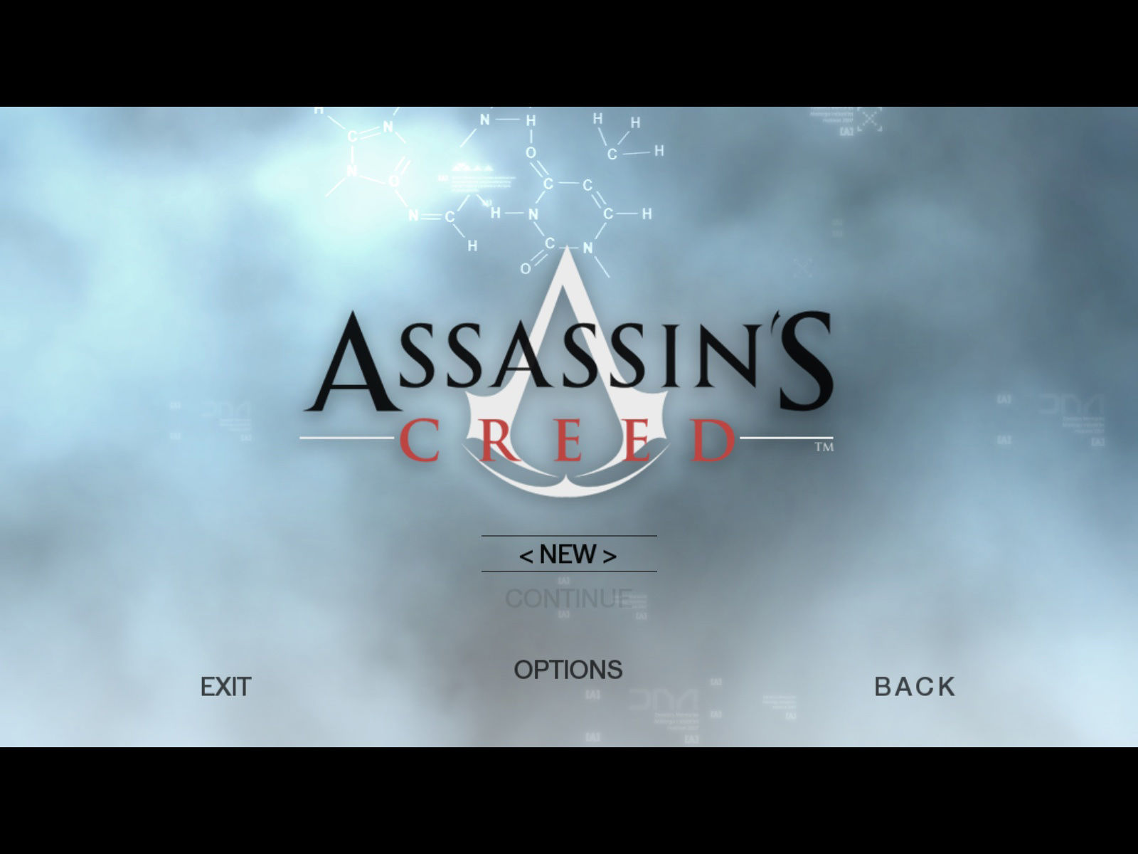 Assassin's Creed (Director's Cut Edition) Windows Main menu