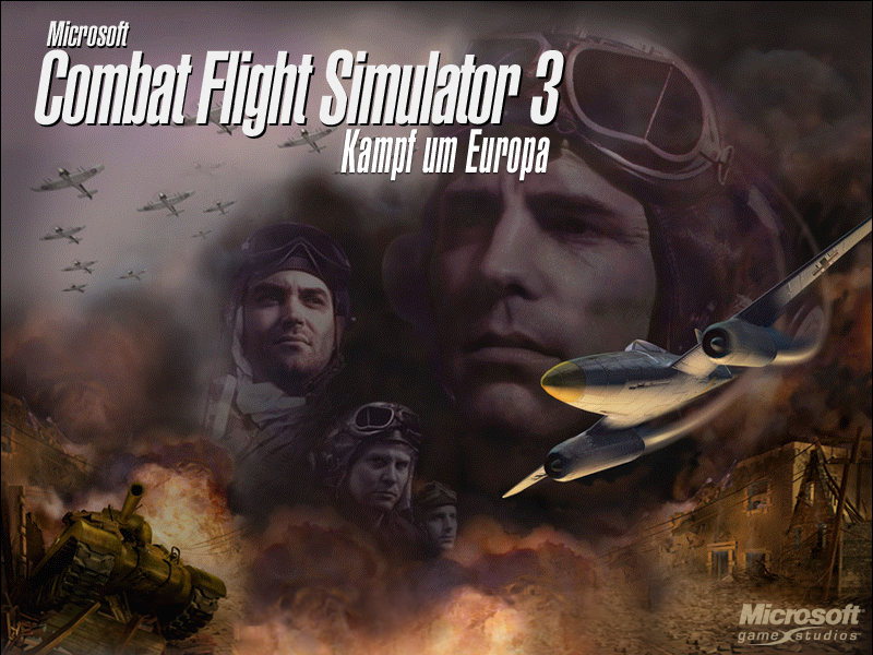 Microsoft Combat Flight Simulator 3: Battle for Europe Windows Title screen