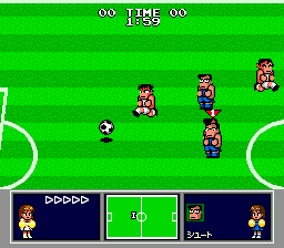 Nintendo World Cup Genesis Chasing down a ball.