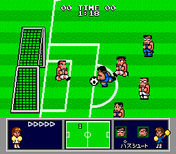 Nintendo World Cup Genesis Taking a close range shot.