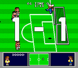 Nintendo World Cup Genesis Blew it past the keeper.