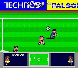 Nintendo World Cup Genesis Kicking the ball.