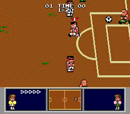 Nintendo World Cup Genesis The keeper gets to kick.