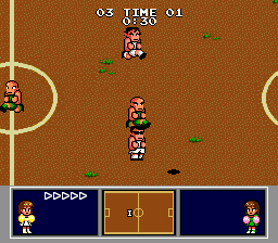 Nintendo World Cup Genesis Following the ball shadow.