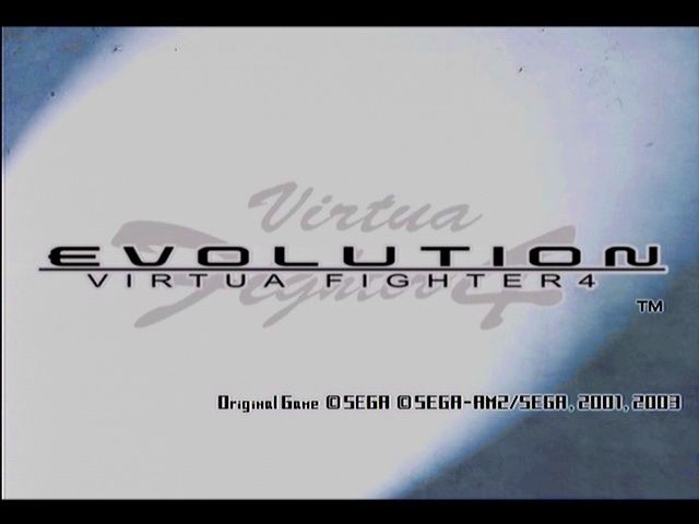 Virtua Fighter 4: Evolution PlayStation 2 Title screen