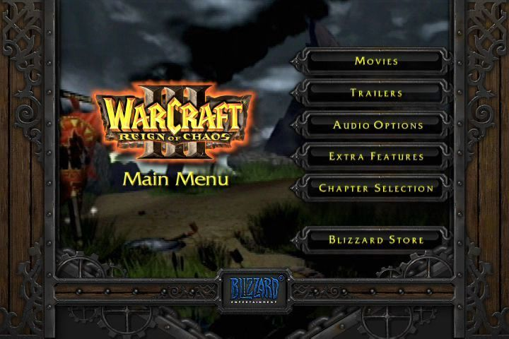 WarCraft III: Reign of Chaos (Collector's Edition) Windows (Collector's Edition DVD) Main Menu