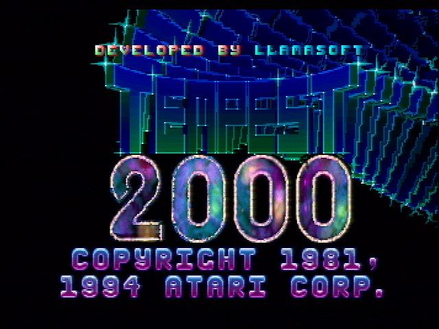 Tempest 2000 Jaguar Title Screen