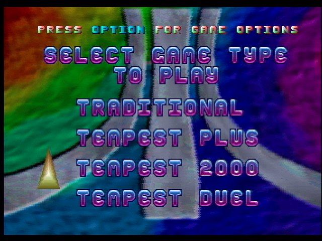 Tempest 2000 Jaguar Main Menu