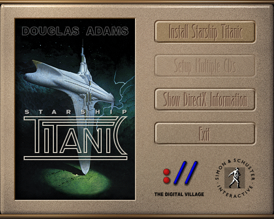 Starship Titanic Windows Installation screen