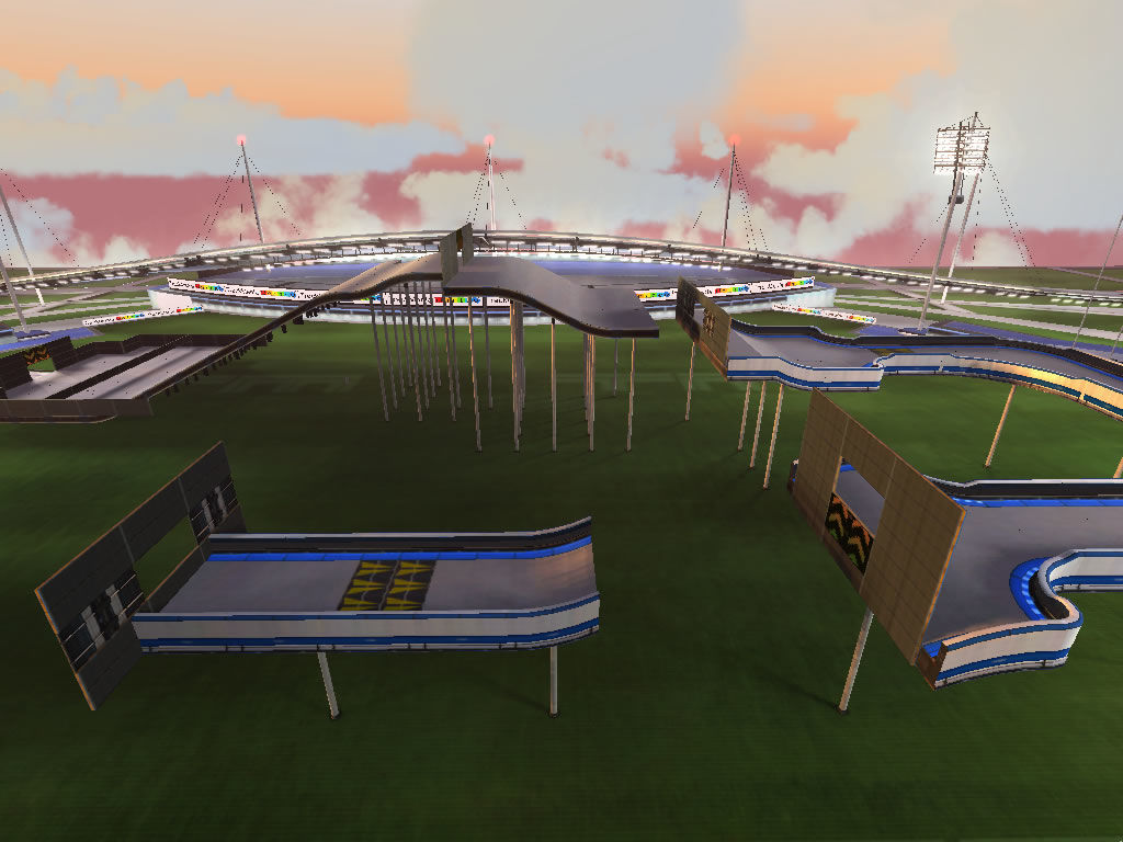 TrackMania Nations Forever Windows Overview of a stadium track
