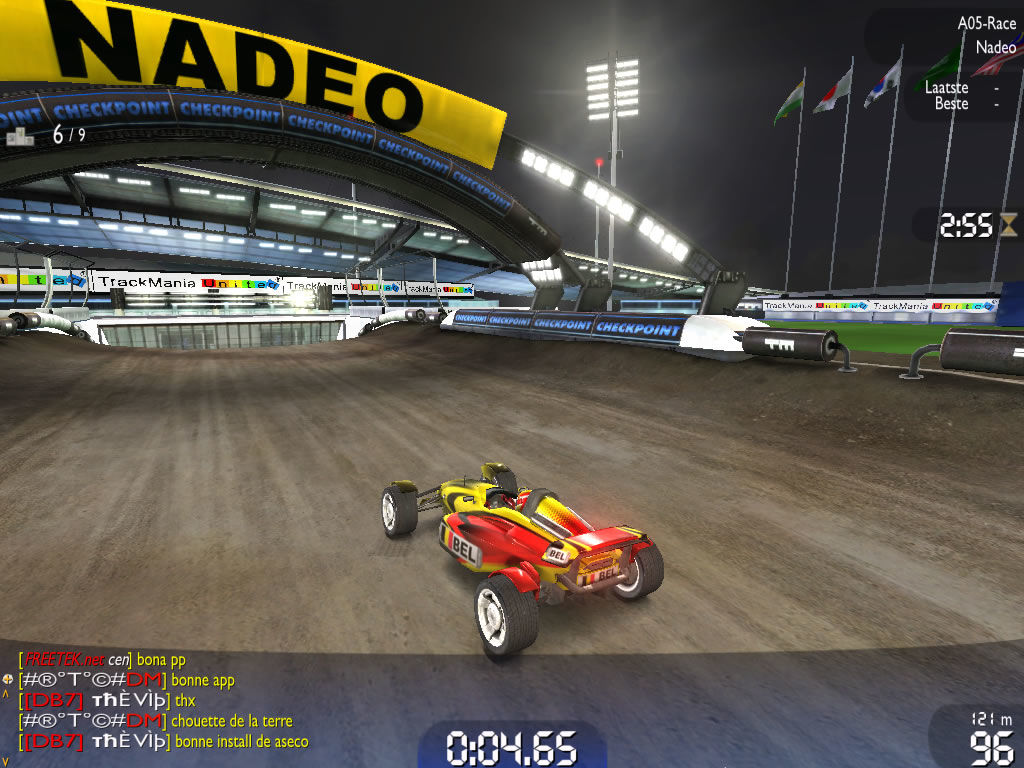 TrackMania Nations Forever Windows The dirt sections are new to the Nations games