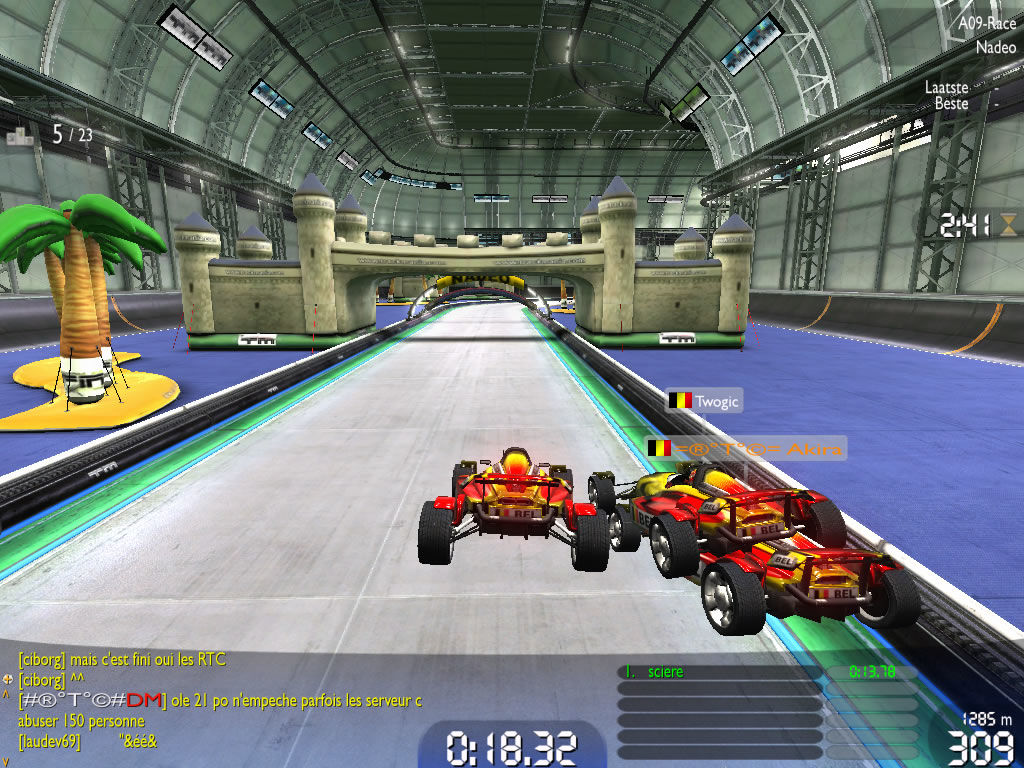 TrackMania Nations Forever Windows Another new course section with water