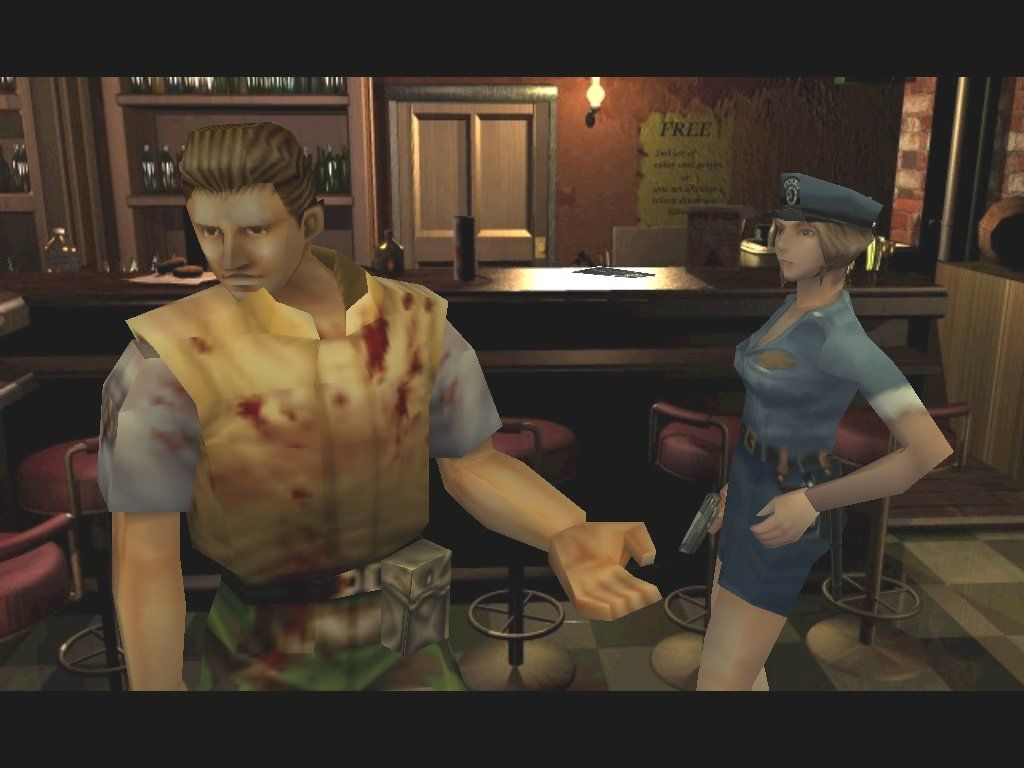 Resident Evil 3: Nemesis Windows Jill chats with fellow STARS member Brad 'chickenheart' Vickers, who's ranting 'He's after STARS members! There's no escape!' Who is 'he'? You'll find out soon enough