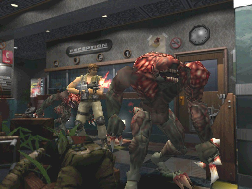 Resident Evil 3: Nemesis Windows Carlos battles Jill's old foes, the Hunters, inside the Hospital