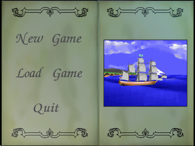 Sea Legends DOS Main menu