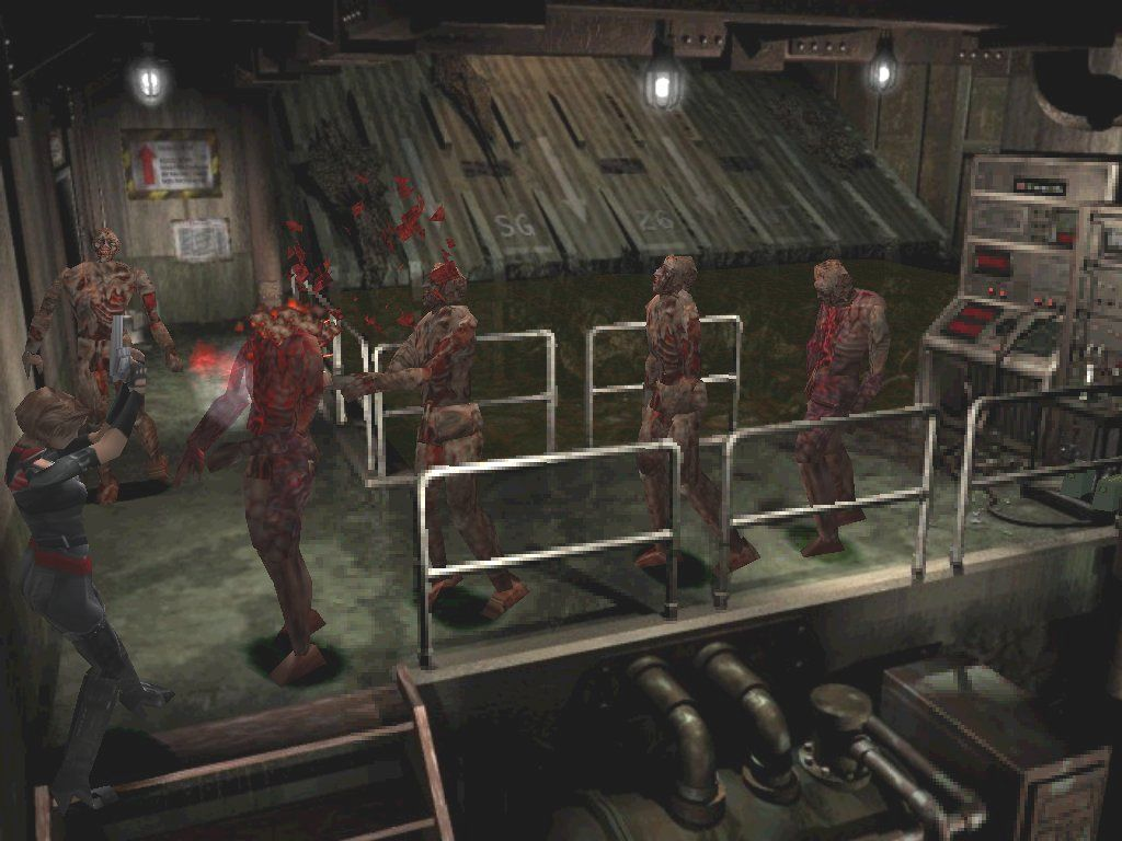 Resident Evil 3: Nemesis Windows Inside the Dead Factory, you'll meet up with your old buddies the naked melting zombies