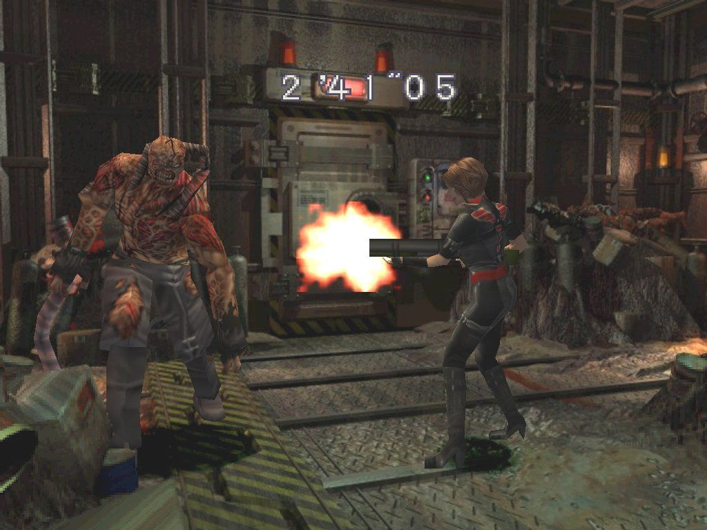 Resident Evil 3: Nemesis Windows Battle in the trash compactor... Nemesis doesn't give up!
