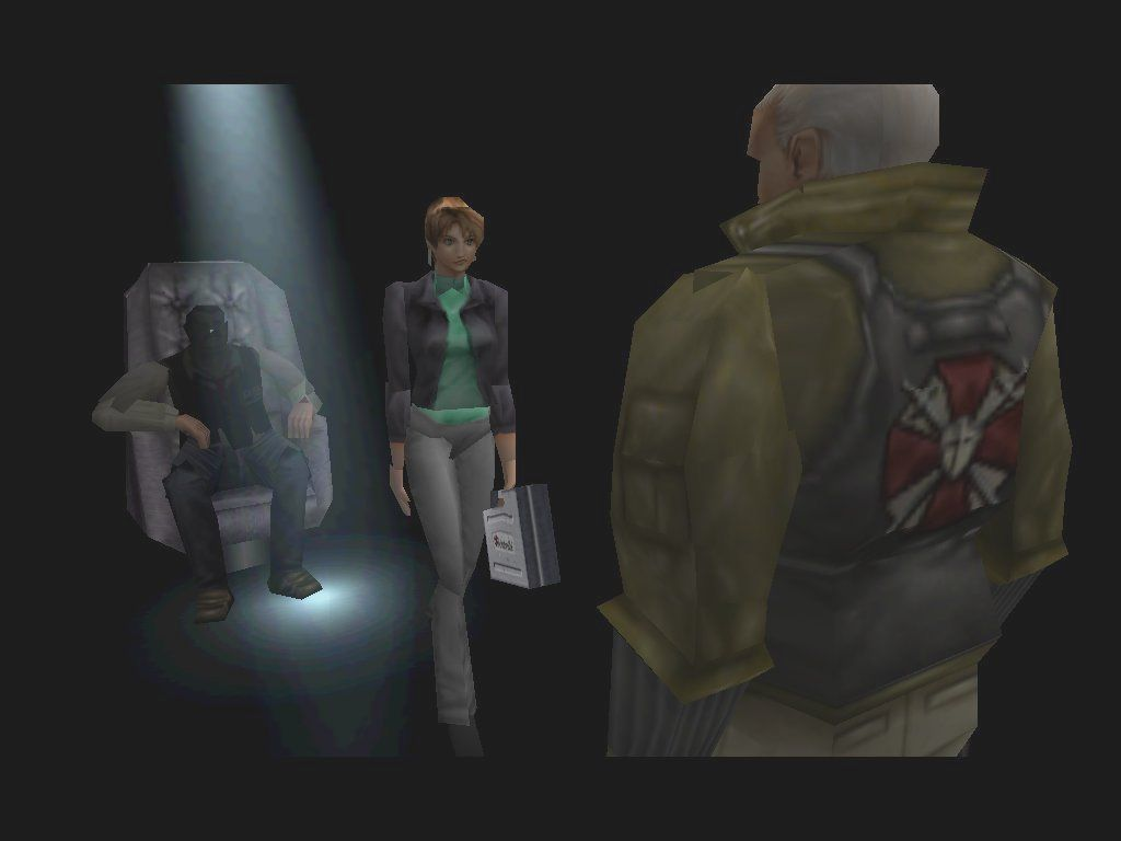 Resident Evil 3: Nemesis Windows Nicholai accepts his reward from Umbrella, and DANG you KNOW he's earned it