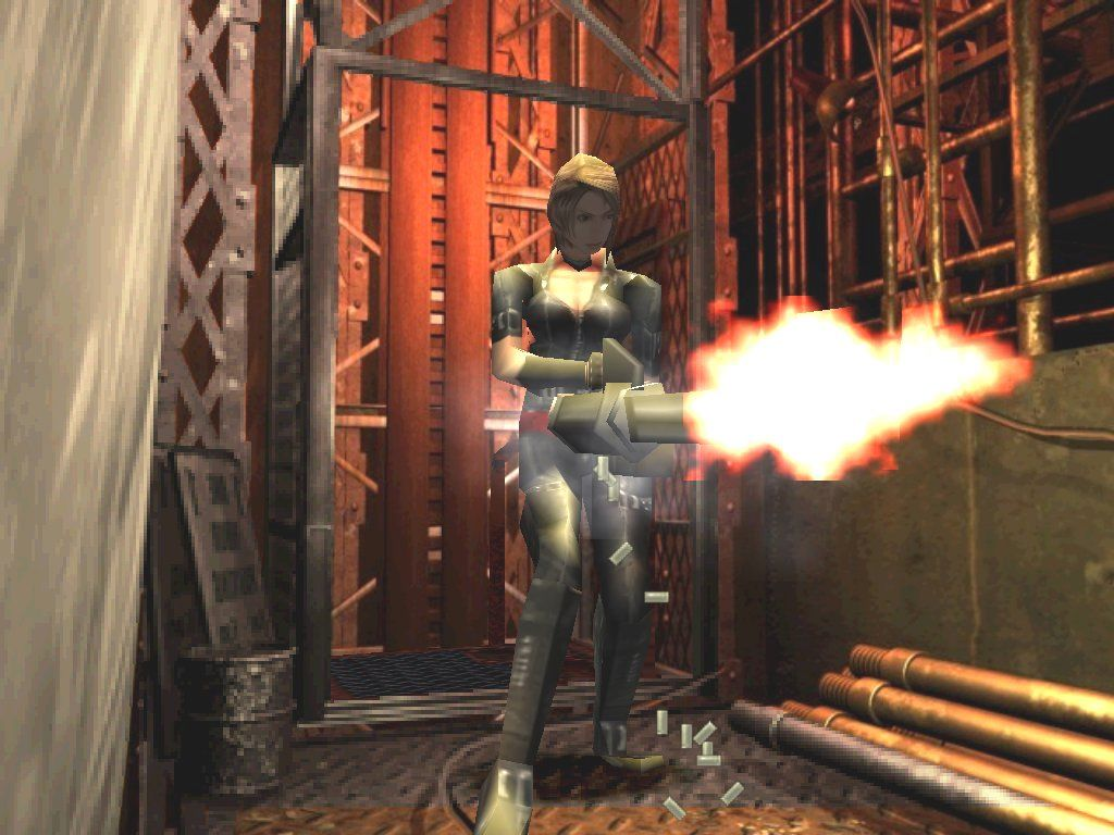 Resident Evil 3: Nemesis Windows You don't think this gattling gun makes me look too butch, do you?