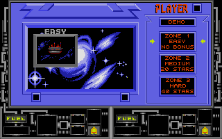 Vindicators Atari ST Zone selection menu