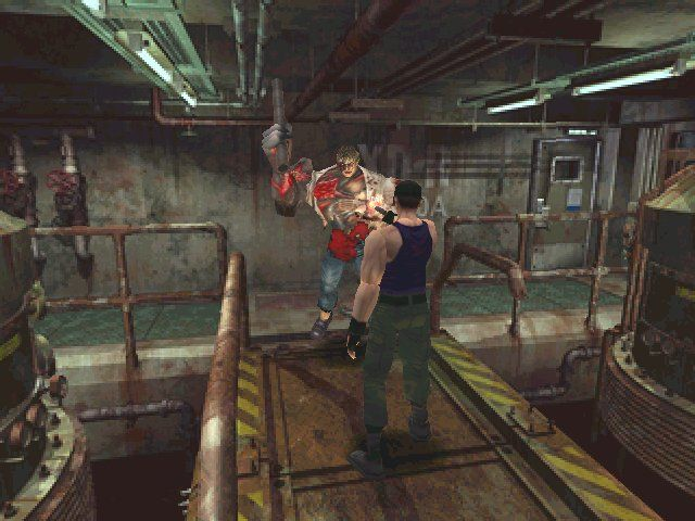 Resident Evil 2 Windows Leon does battle with William Birkin, the G-Type himself