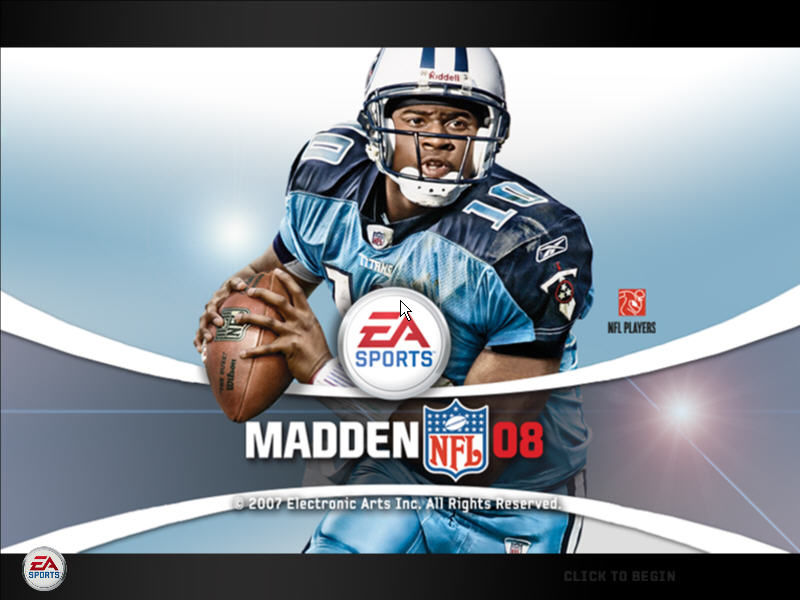 Madden NFL 08 Windows Title Screen
