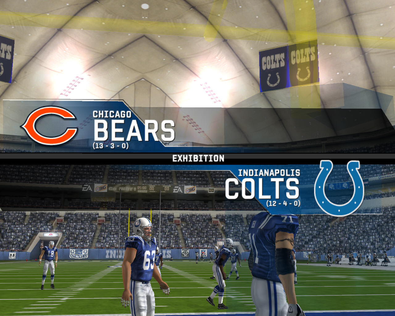 Madden NFL 08 Windows Chicago Bears vs Indianapolis Colts